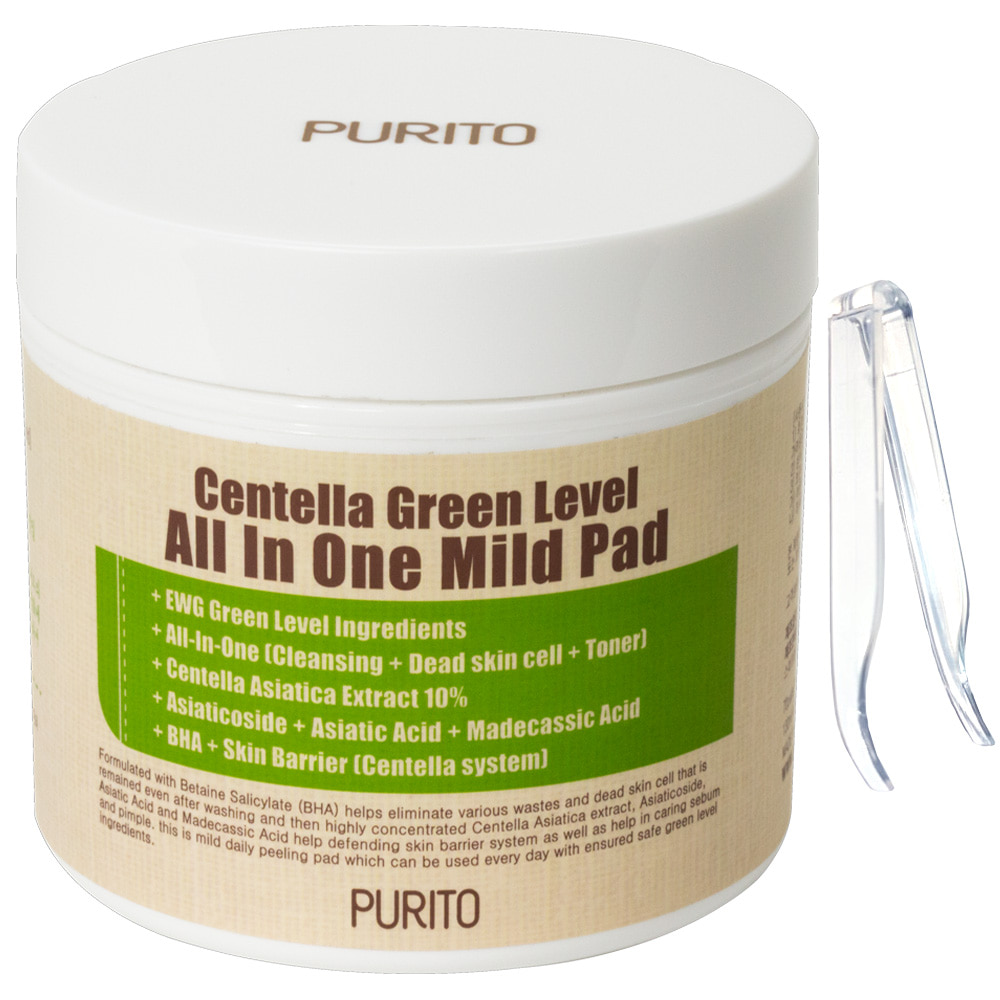 PURITO Centella Green Level All IN One Mild Pad 130ml / 70pads (weight : 320g)