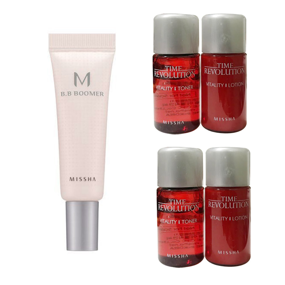 Missha M B.B Boomer Sample 10ml + Time Revolution Vitality Dual Kit 2ea
