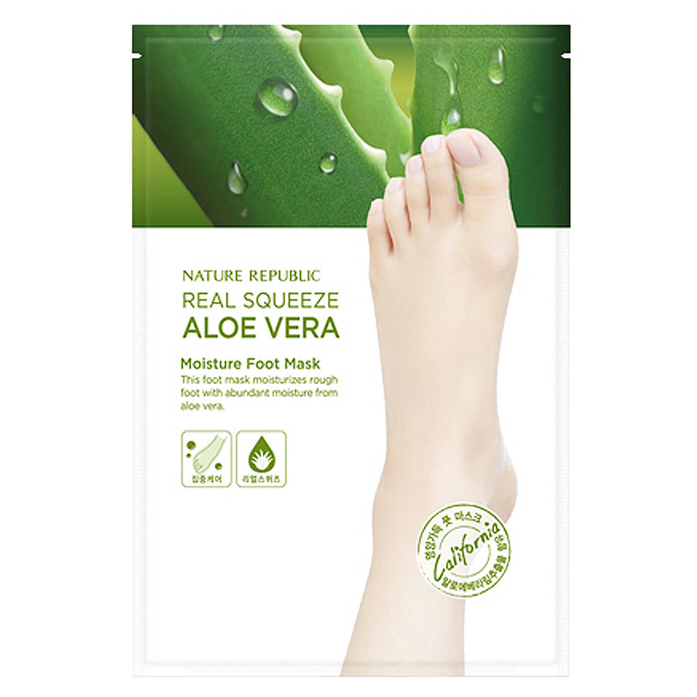 Nature Republic Real Squeeze Aloe Vera Moisture Foot Mask 16ml