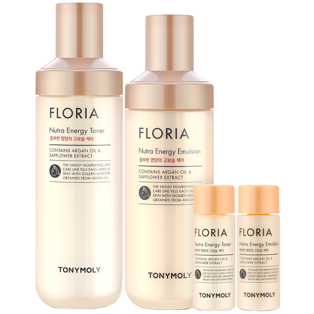 TONYMOLY Floria Nutra Energy Skin Care Set - 1pack (4item) (weight : 850g)