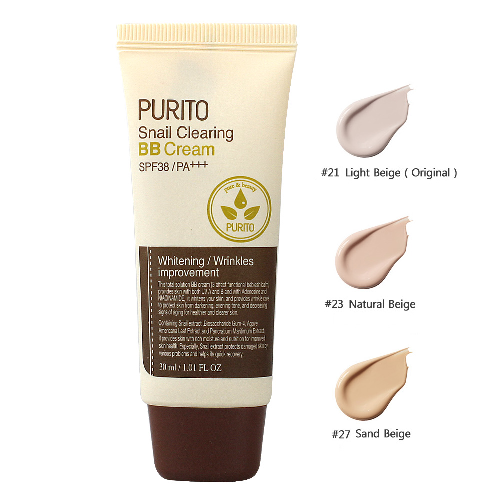 PURITO Snail Clearing BB Cream SPF38/PA++ 30ml (weight : 90g)