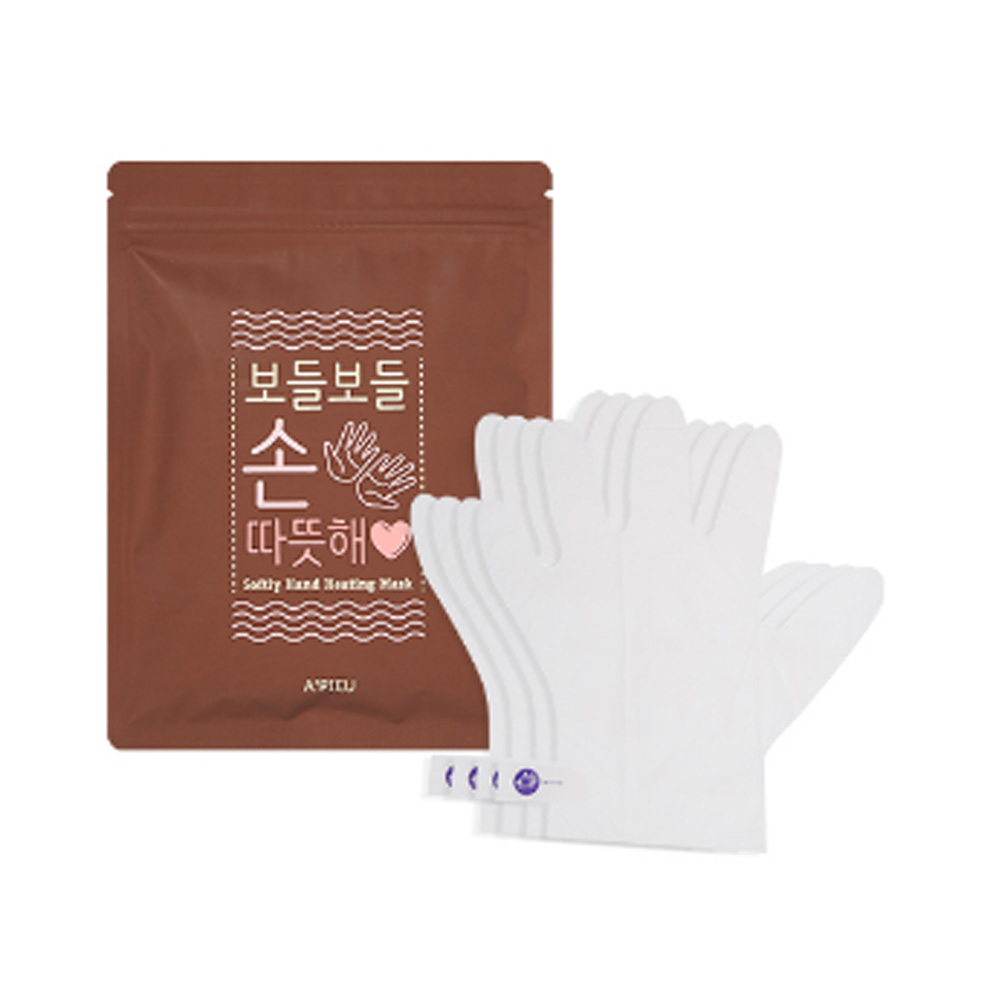 A'pieu Softly Hand Heating Mask 64ml (1Pair 16ml*4ea)