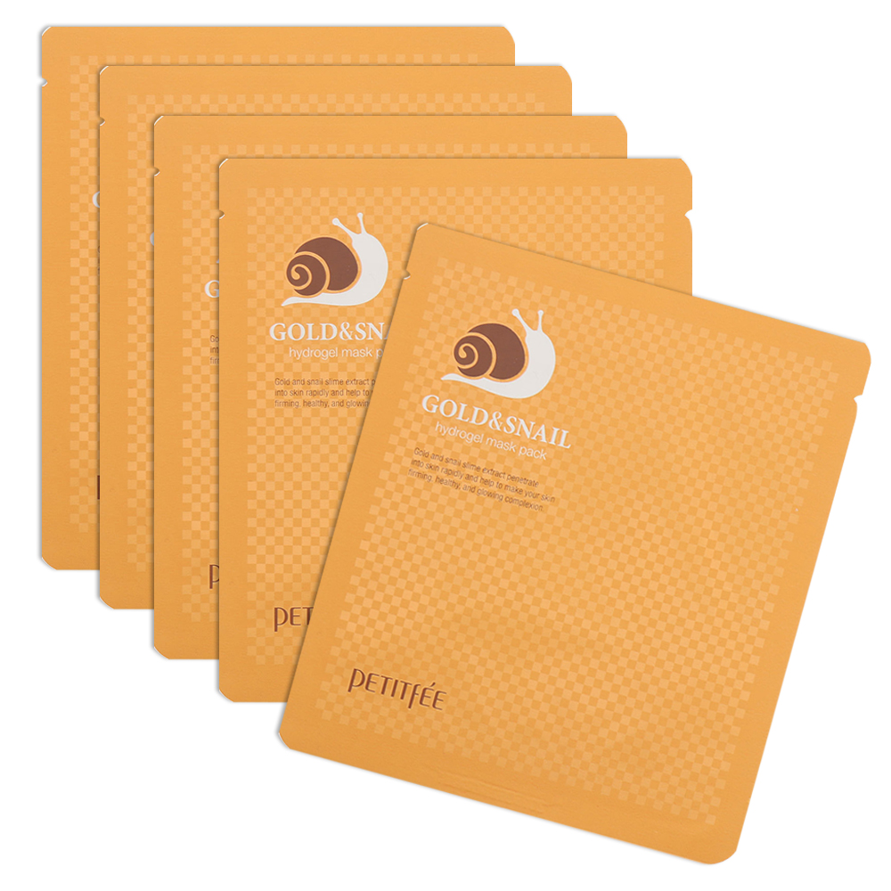 PETITFEE Gold & Snail Hydrogel Mask Pack 30g x 5 sheets