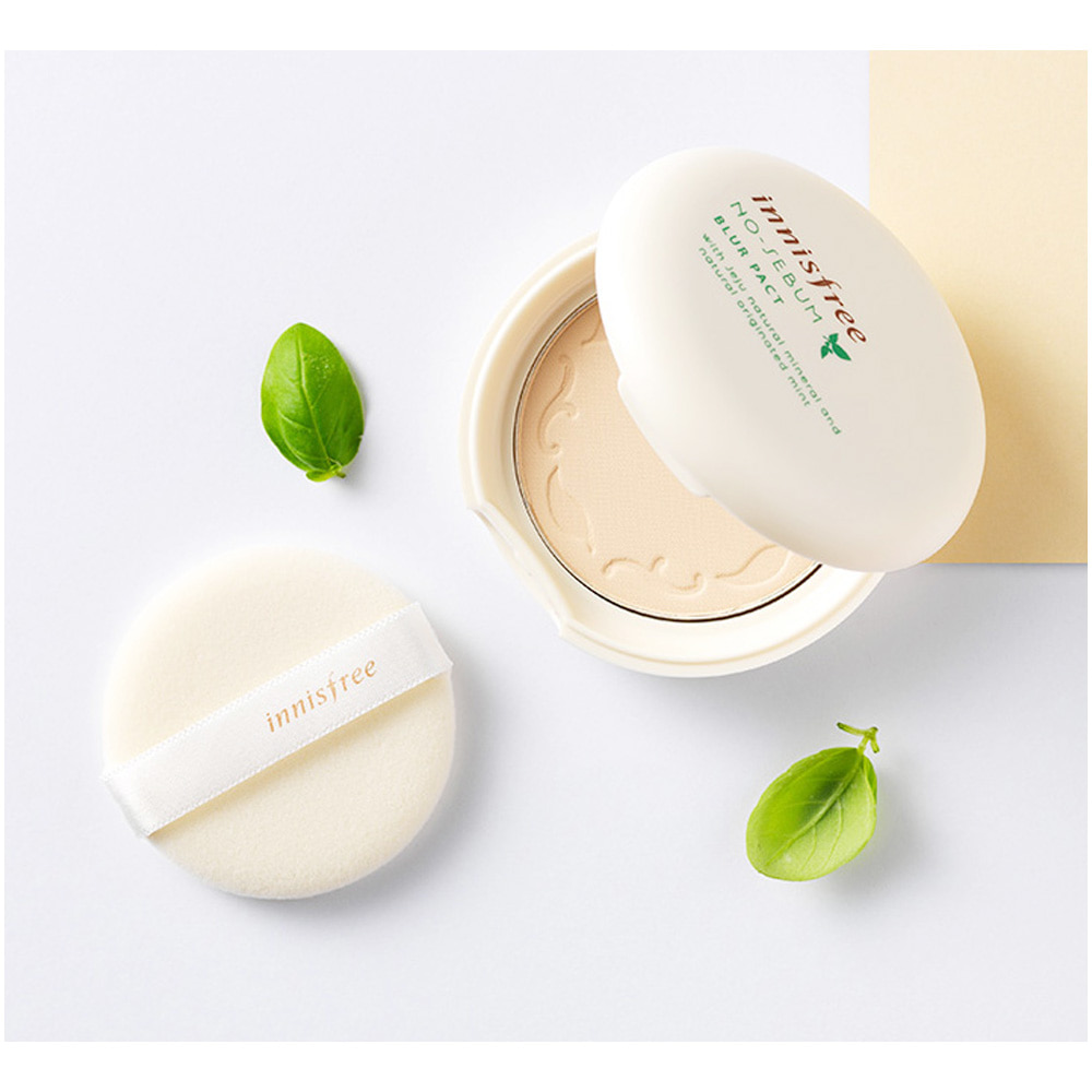 Innisfree No-Sebum Blur Pact 8.5g  (weight :90g)