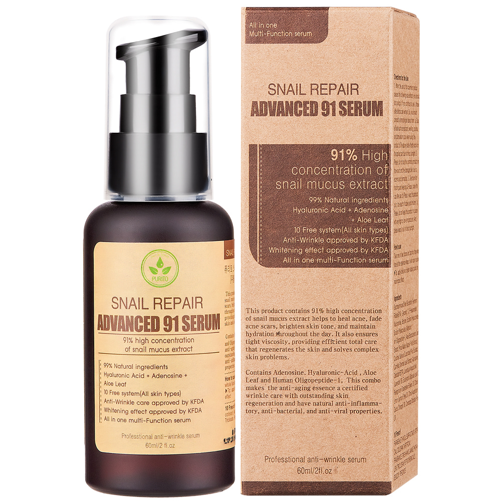 PURITO Snail Repair Advanced 91 Serum 60ml (weight : 140g)