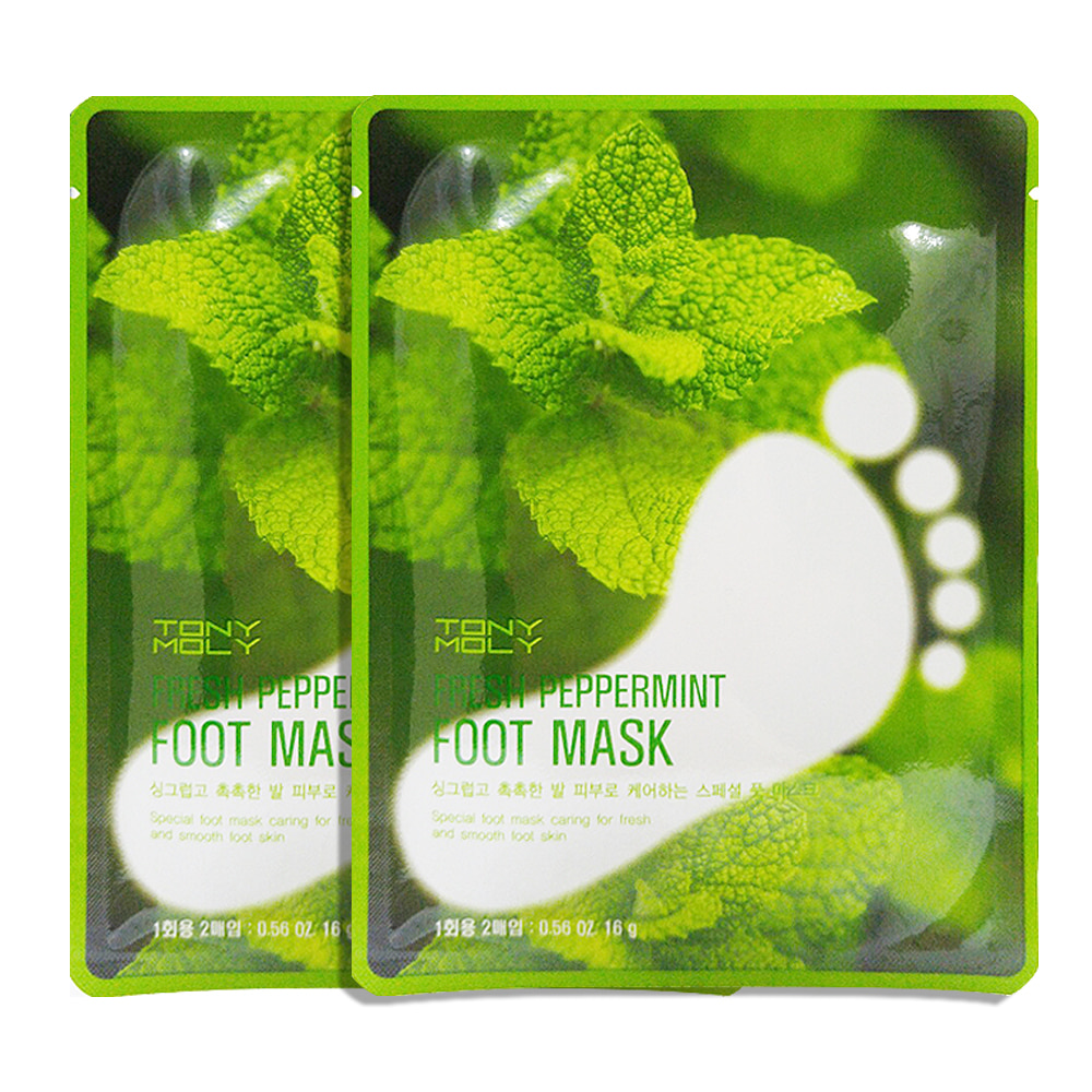 TONYMOLY Fresh Peppermint Foot Mask 16g 1+1 2pcs
