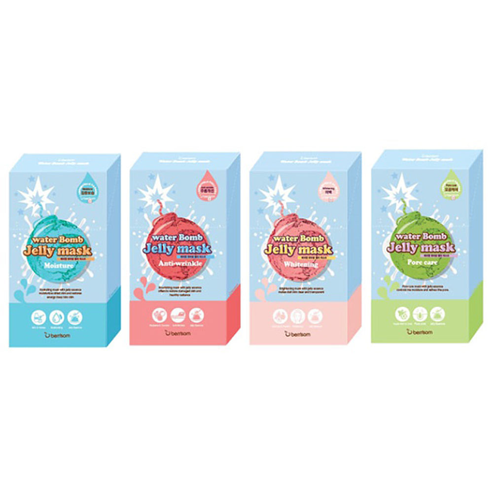 Berrisom Water Bomb Jelly Mask 33ml * 5pcs (weight : 300g)