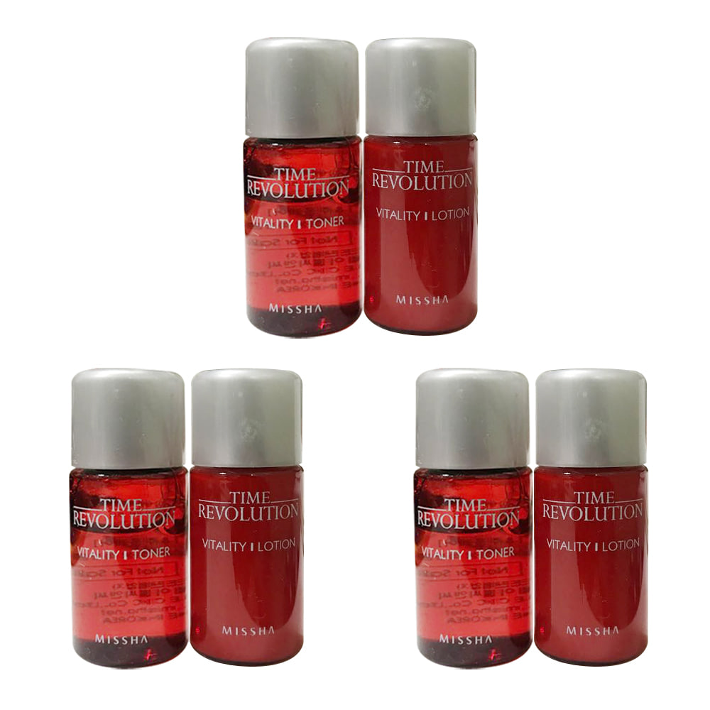 Missha Time Revolution Vitality Toner & Lotion Dual Kit * 3ea