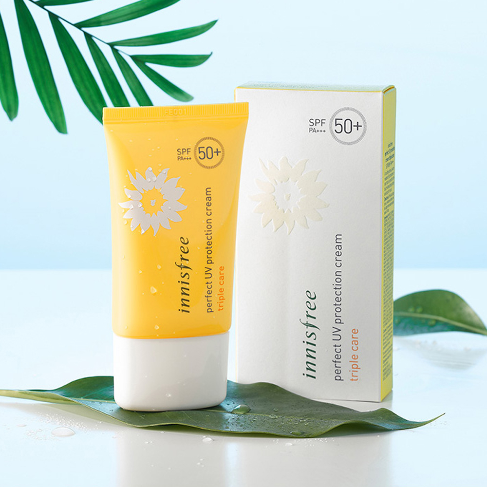 Innisfree Perfect UV Protection Cream Triple Care SPF50+ PA+++ 50ml (weight : 100g)